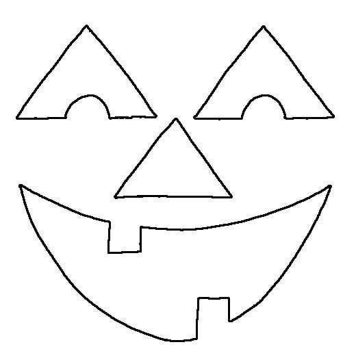 Happy Pumpkin Face Coloring Page | Kids' Spanish Class ...