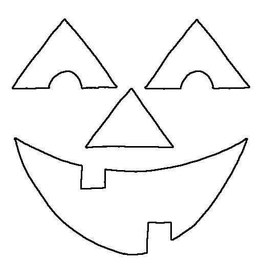 Happy Pumpkin Face Coloring Page Pumpkin Face Templates Happy