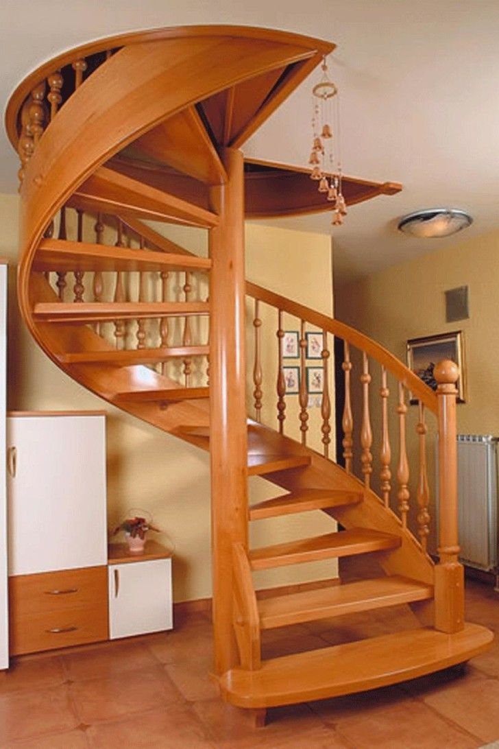 Interior smallest spiral staircase for narrow space for Round staircase designs interior