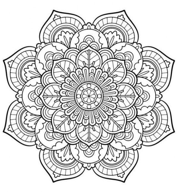 Mandala 07 | Mendhi | Pinterest | Mandala, Coloring books and Adult ...