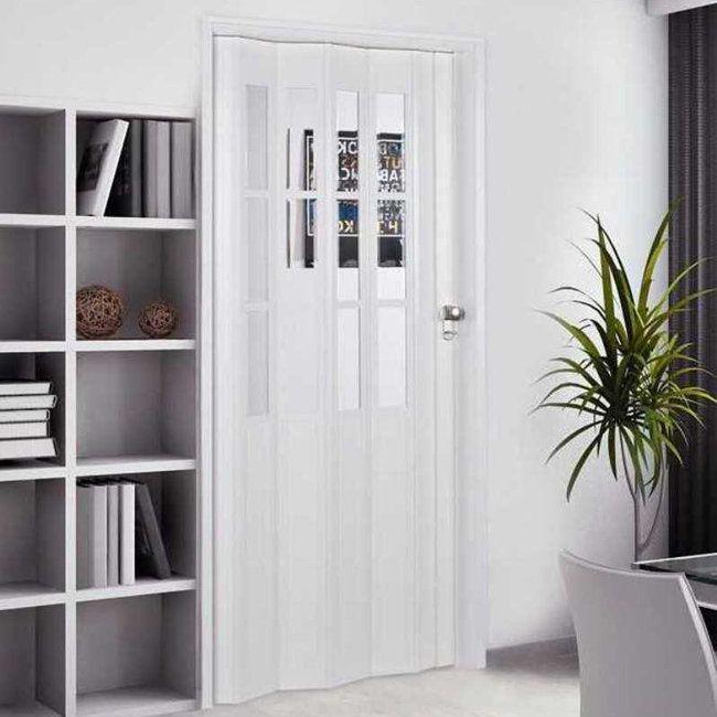 Homestyle Capri 32x80 Inch White Folding Door Capri 32x80 Size 32 X 80 French Doors Interior Folding Doors Folding Doors Interior