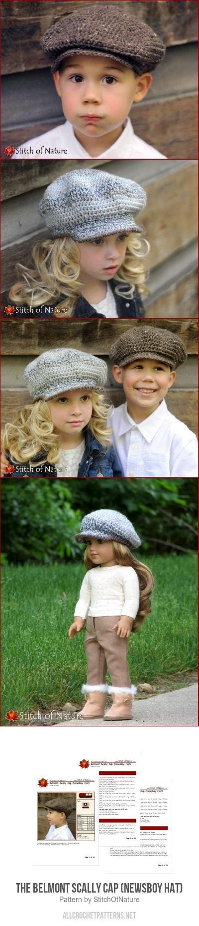 6e1ef5bf67 The Belmont Scally Cap (Newsboy Hat) crochet pattern by Stitch of ...