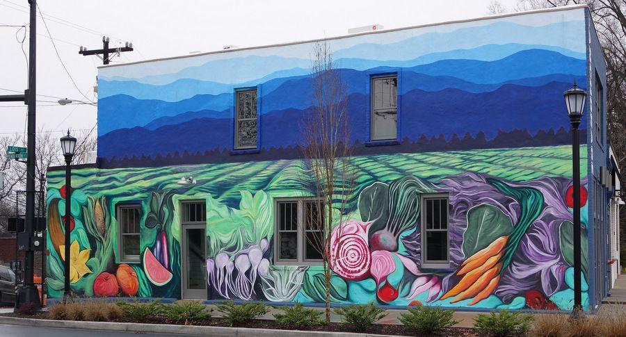 Greenville Sc Murals Nyc Murals Mural Village Harvest