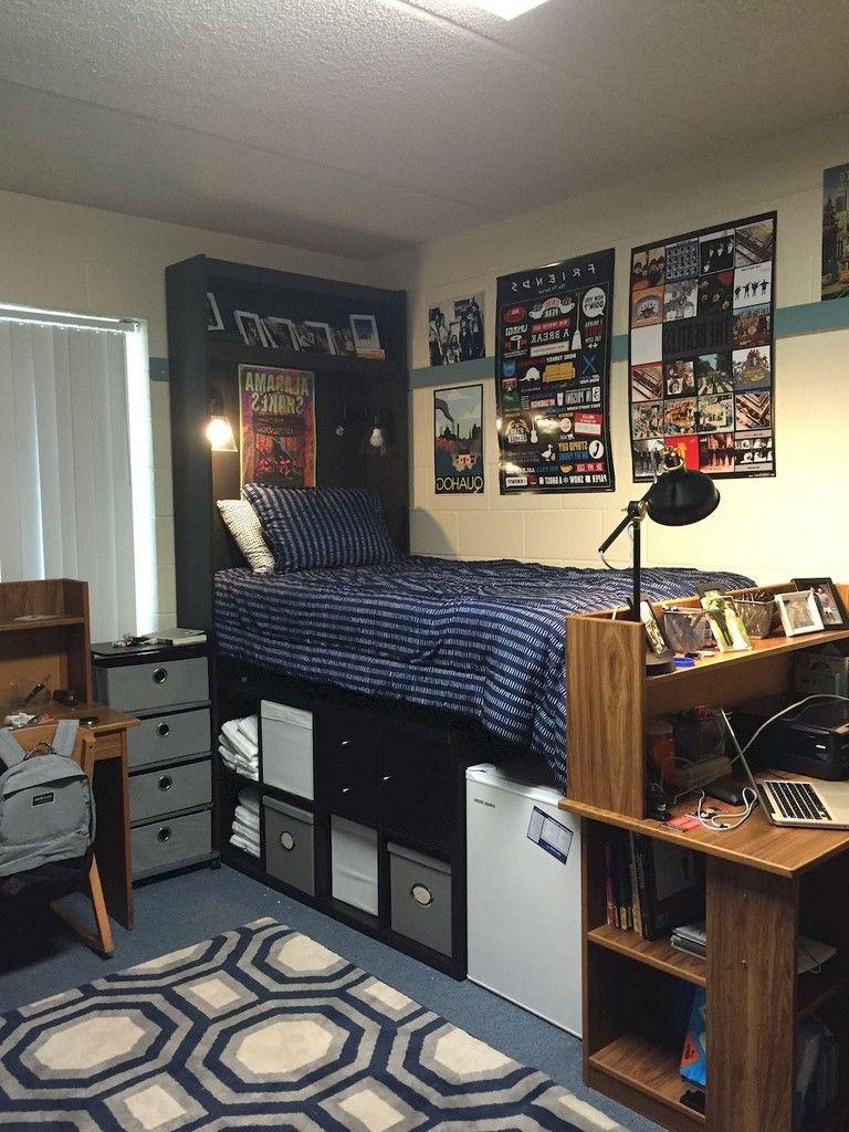 45 Admirable Dorm Room Space Saving Storage Ideas Dorm Room Diy
