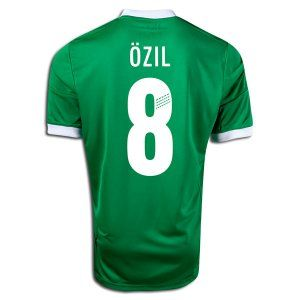 2b151ebb9 Mesut Ozil 8 adidas 2012/13 Germany Green Away Soccer Jersey (Medium ...