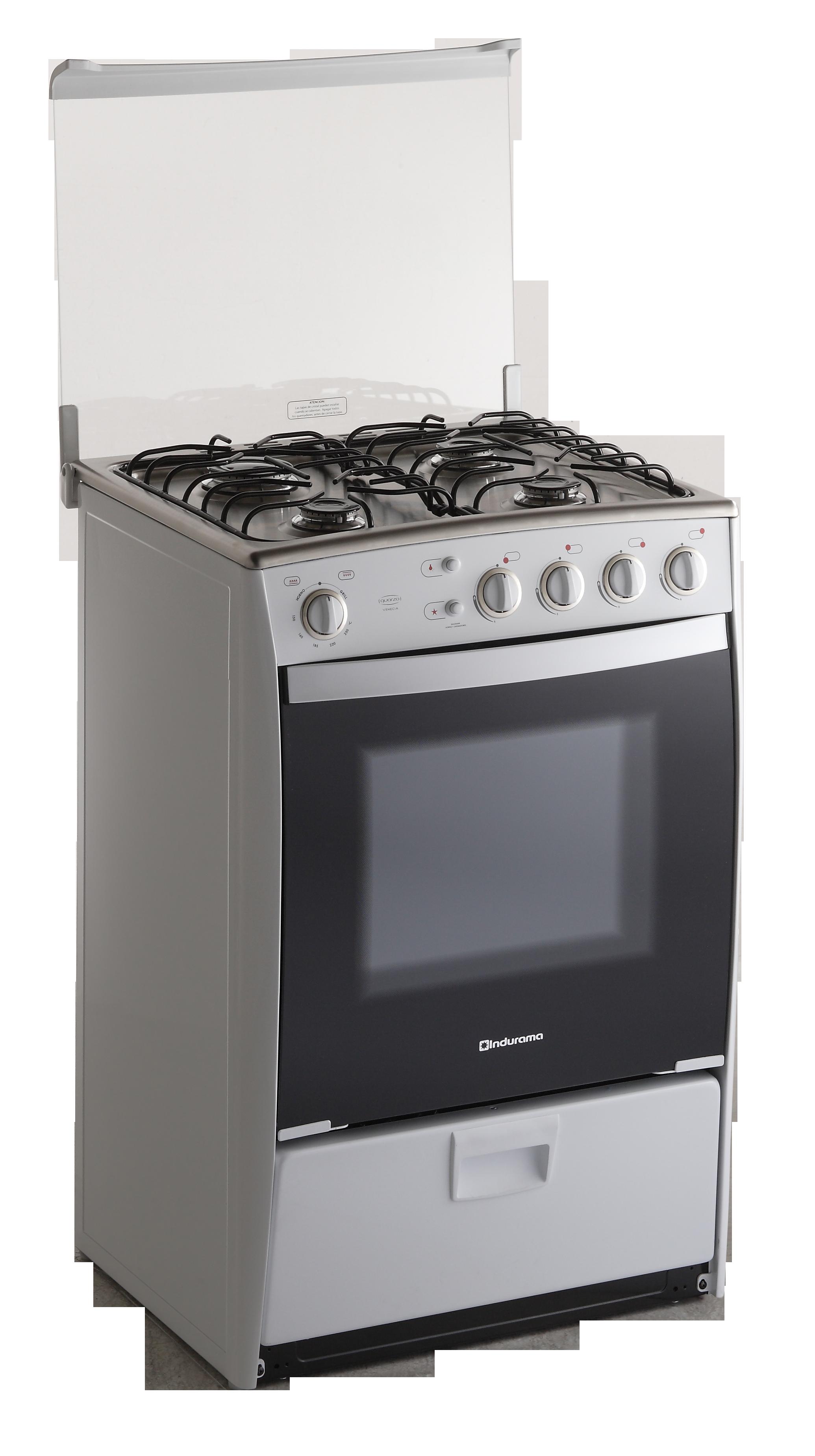 Venecia Quarzo De Indurama 4 Quemadores 24 Pulgadas Blanco Alto 94 Cm Ancho 60 Cm Prof 58 Cm Parrila Autodesli Kitchen Appliances Kitchen Oven