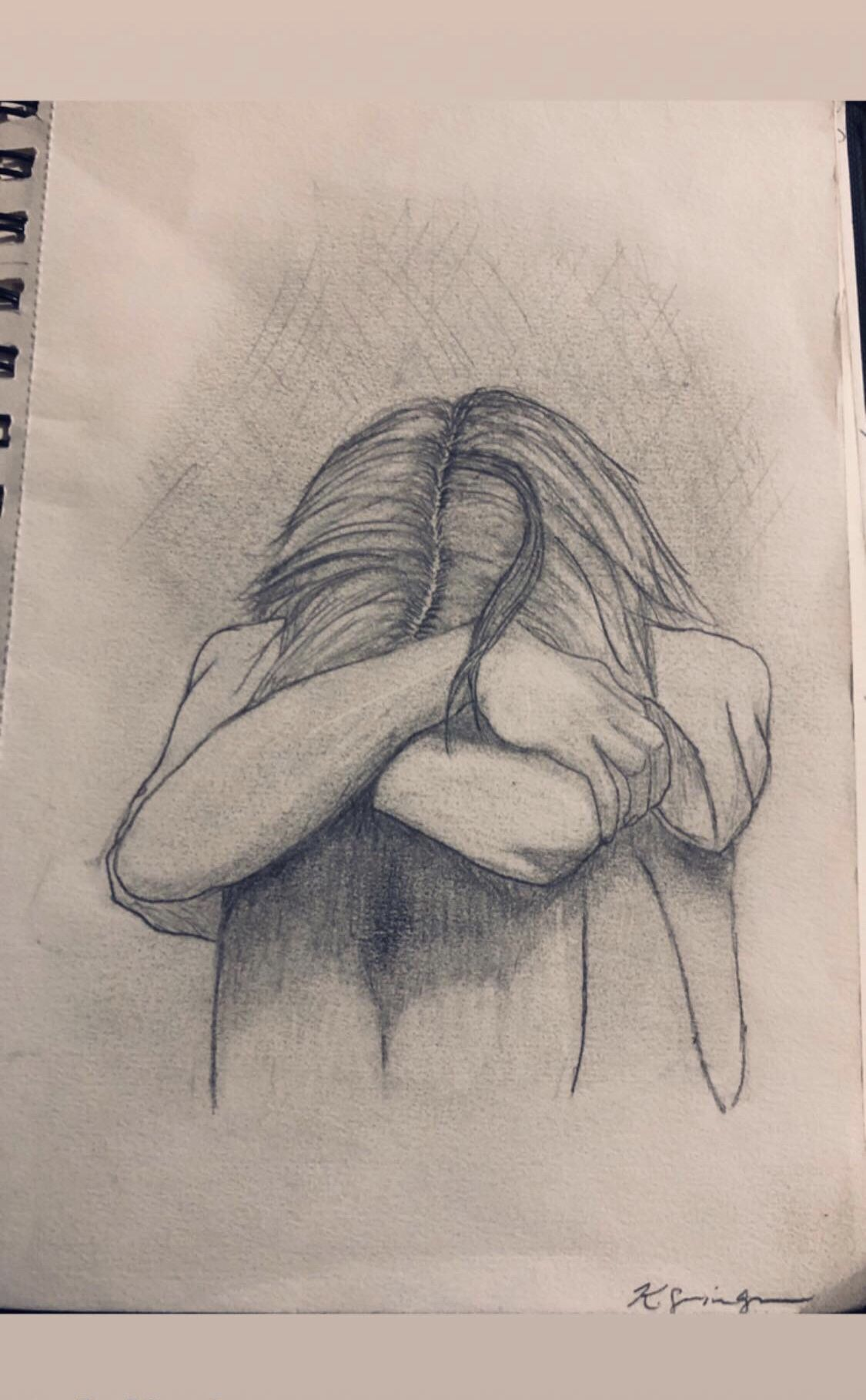 #sad #sketchbook #drawings #art #emotions #pencilsketch