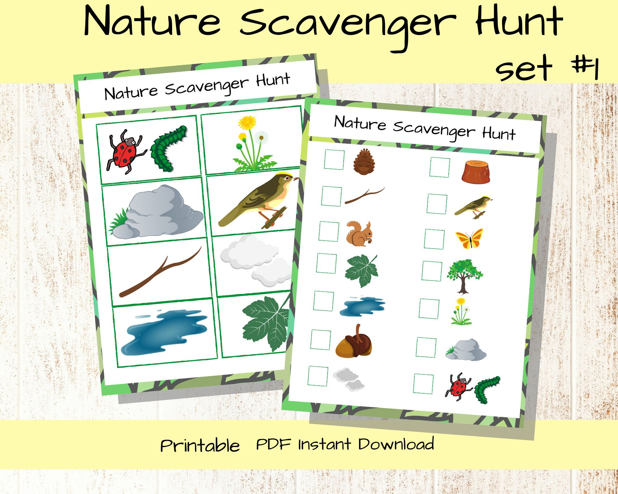 Nature Scavenger Hunt Printable Toddler Activity Kids
