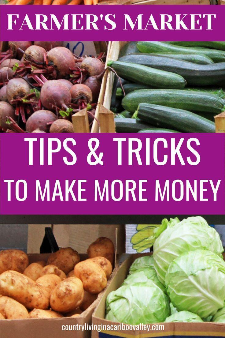 How to Sell Your Produce at the Farmers Markets Country