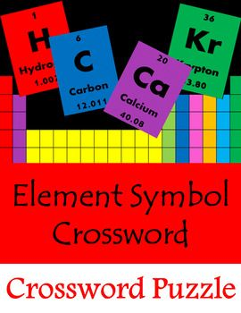 Crossword puzzle element symbols and names chemistry pinterest students will use the periodic table to find the names of element symbols can urtaz Choice Image