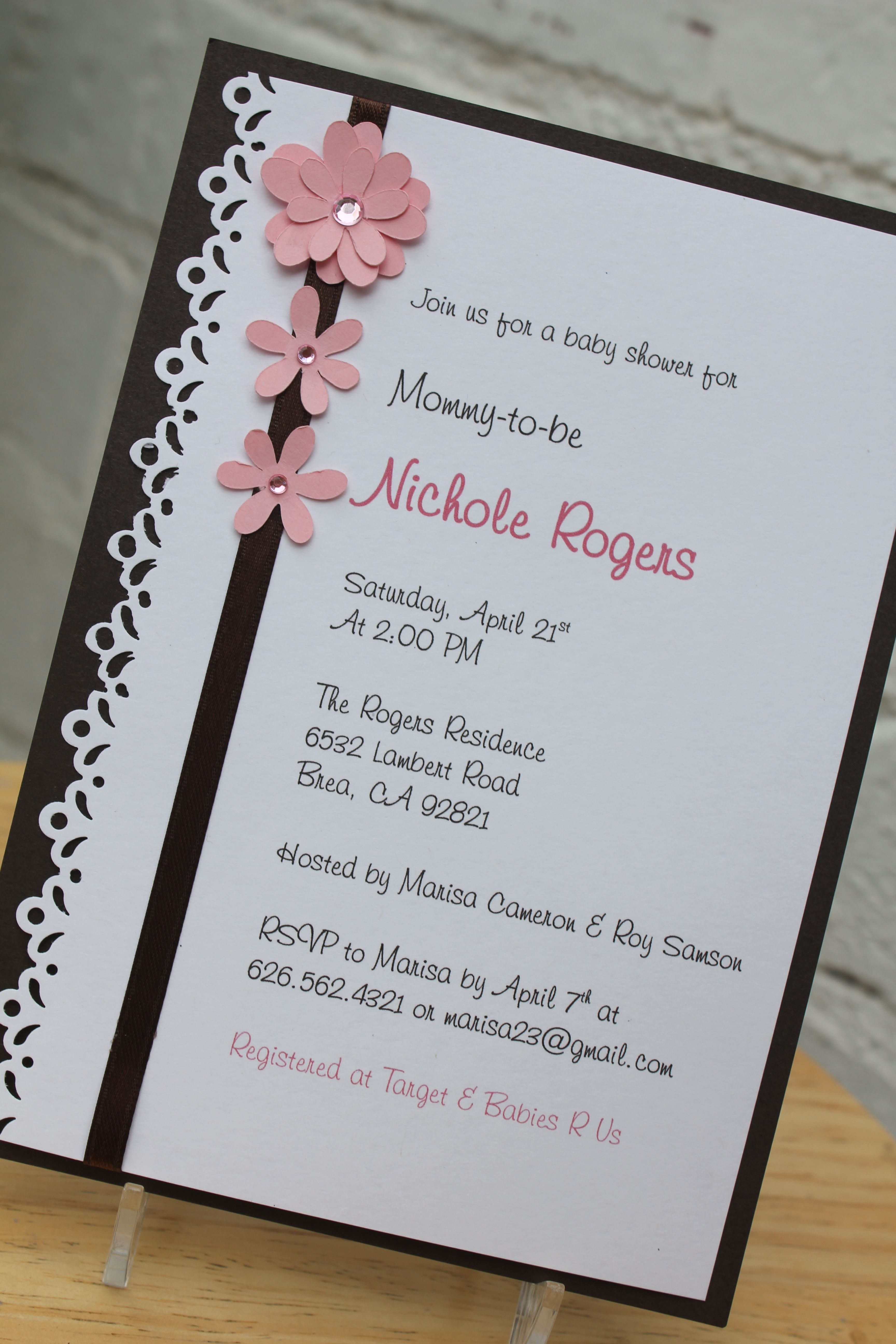 New baby shower invitations! Available at CraftedbyLizC online shop ...