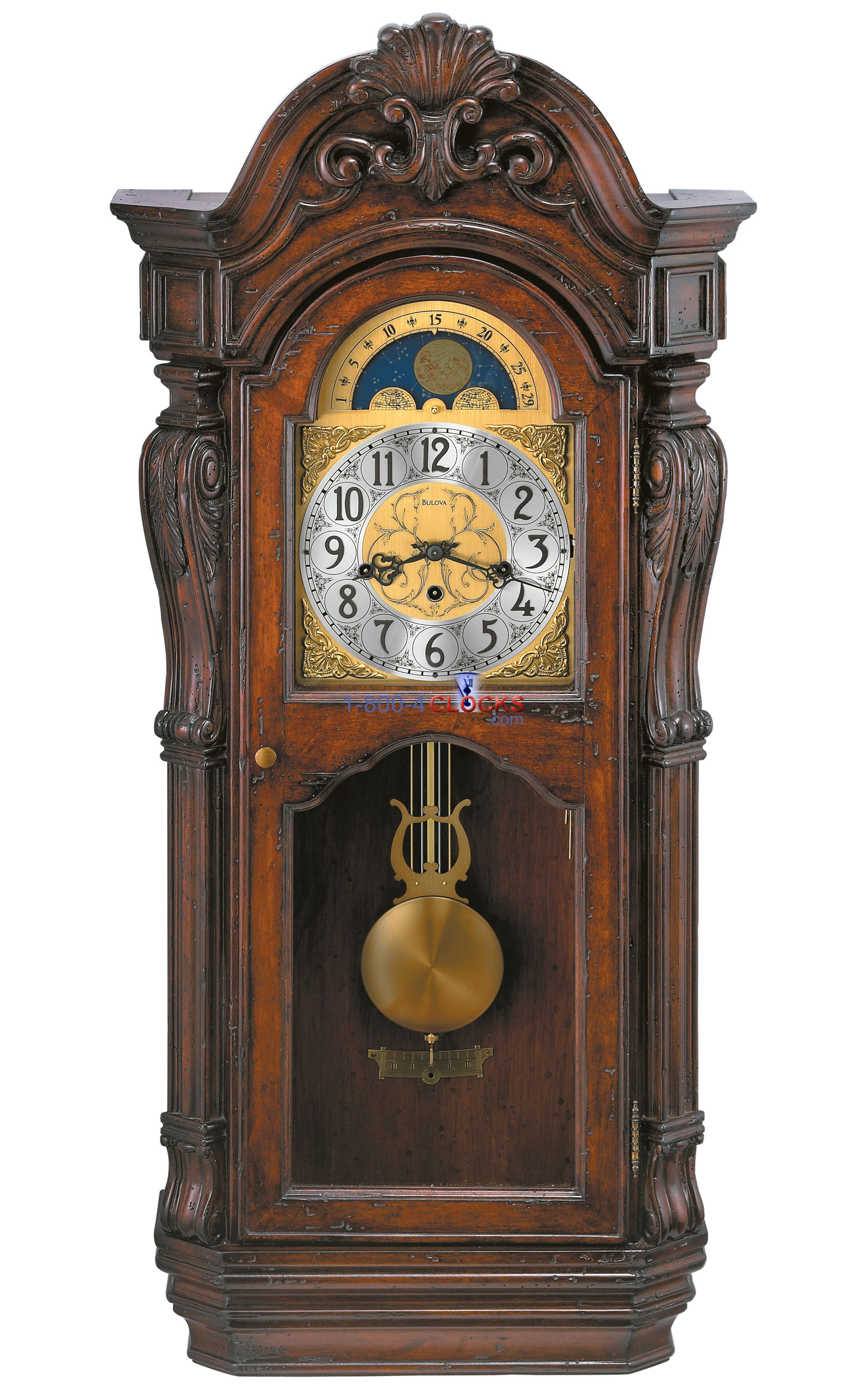 Bulova Canterbury Wall Clock Grandfather Clocks Howard Miller Antique American