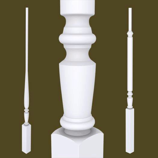 Best Victorian Series Primed Balusters Stairs Parts 400 x 300