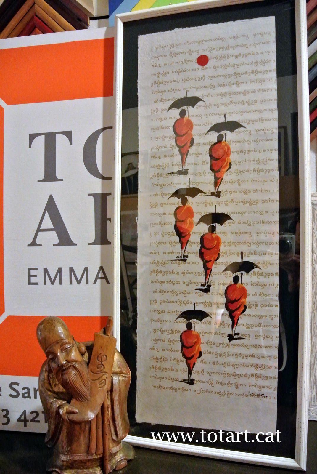 Marco para pintura Birmania enmarcada en tienda de marcos y cuadros ...