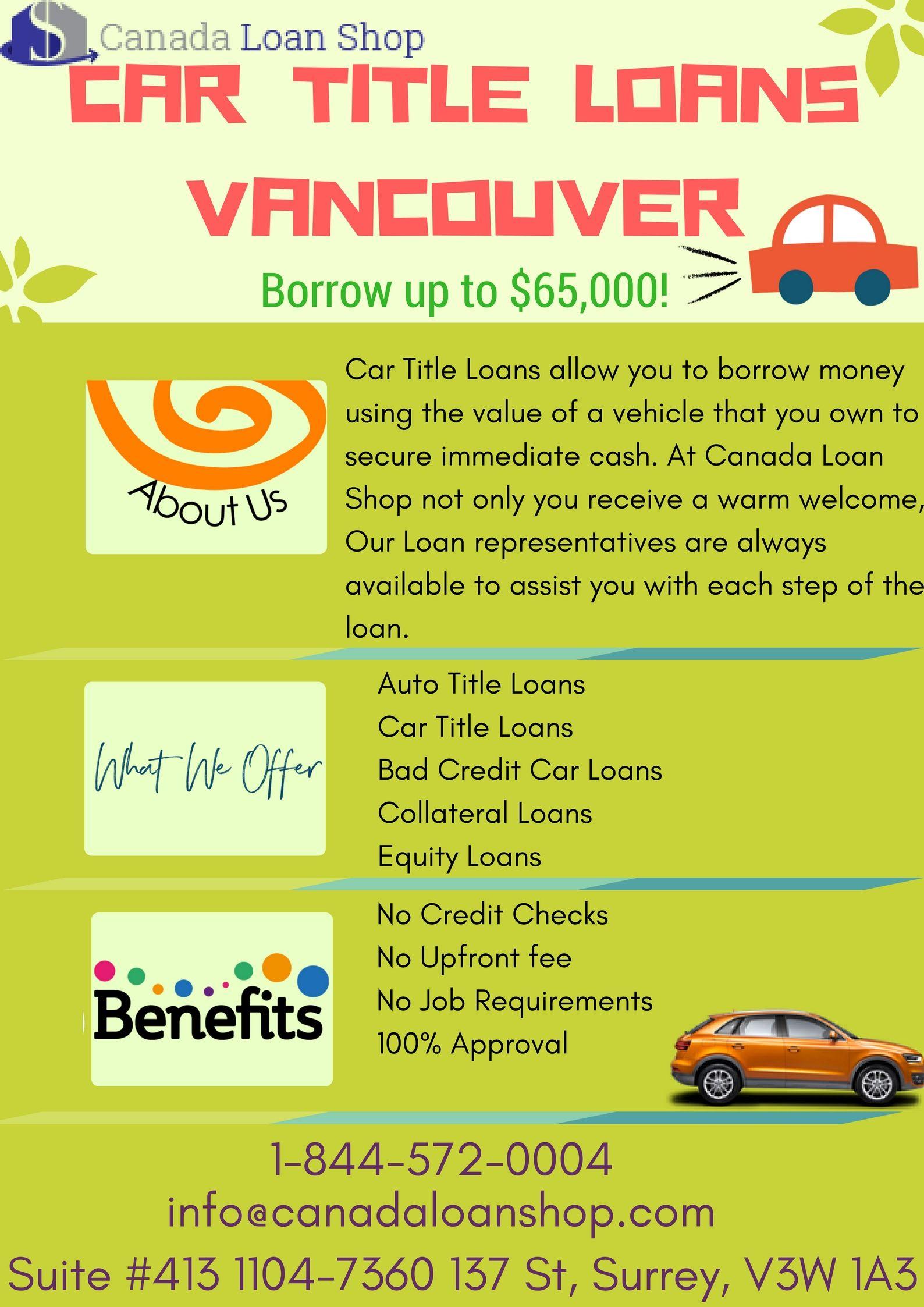 Car Title Loans Vancouver Car Title Loans Pinterest Cars