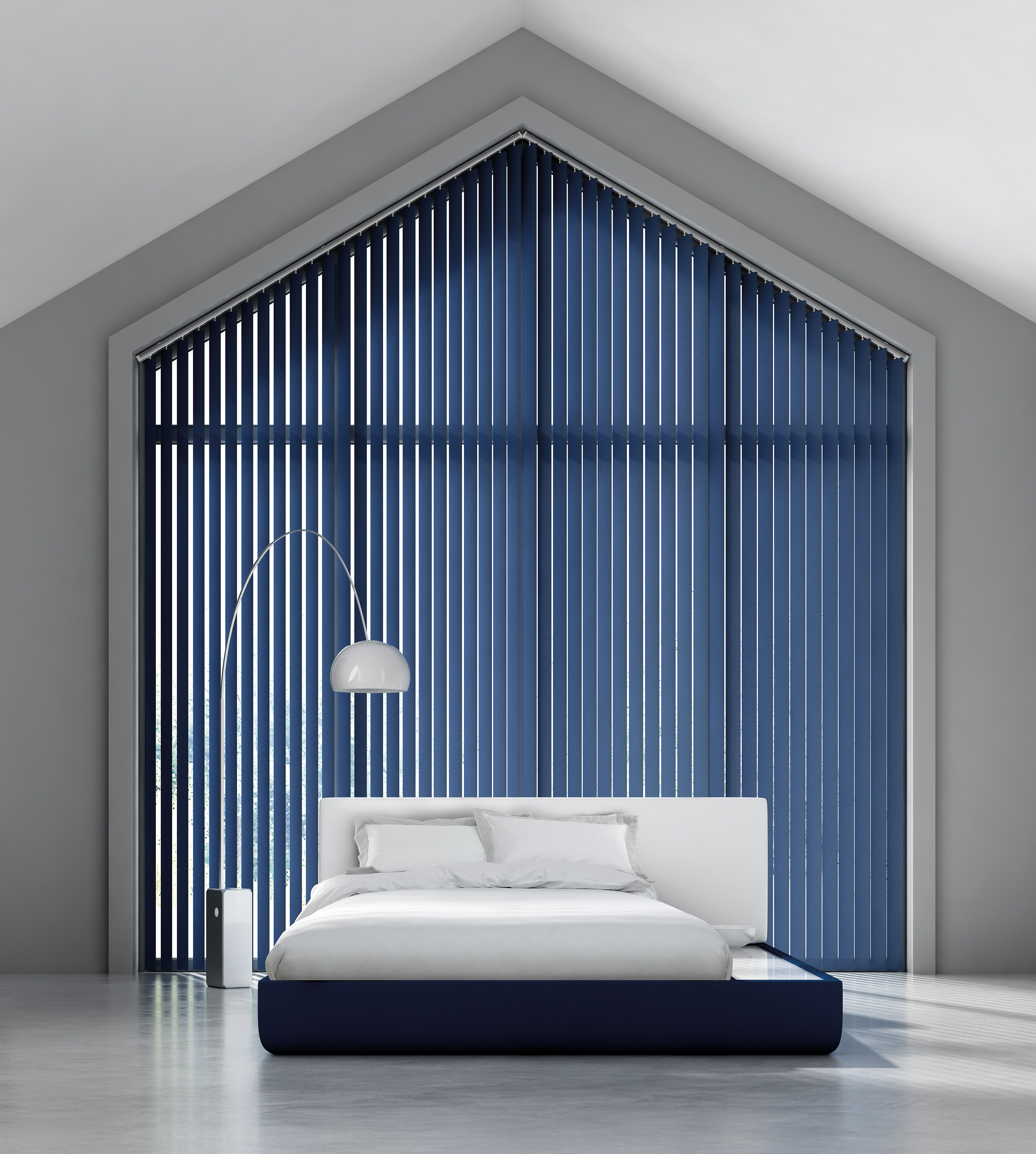 Bella Indigo Vertical Blinds To Really Make A Statement In