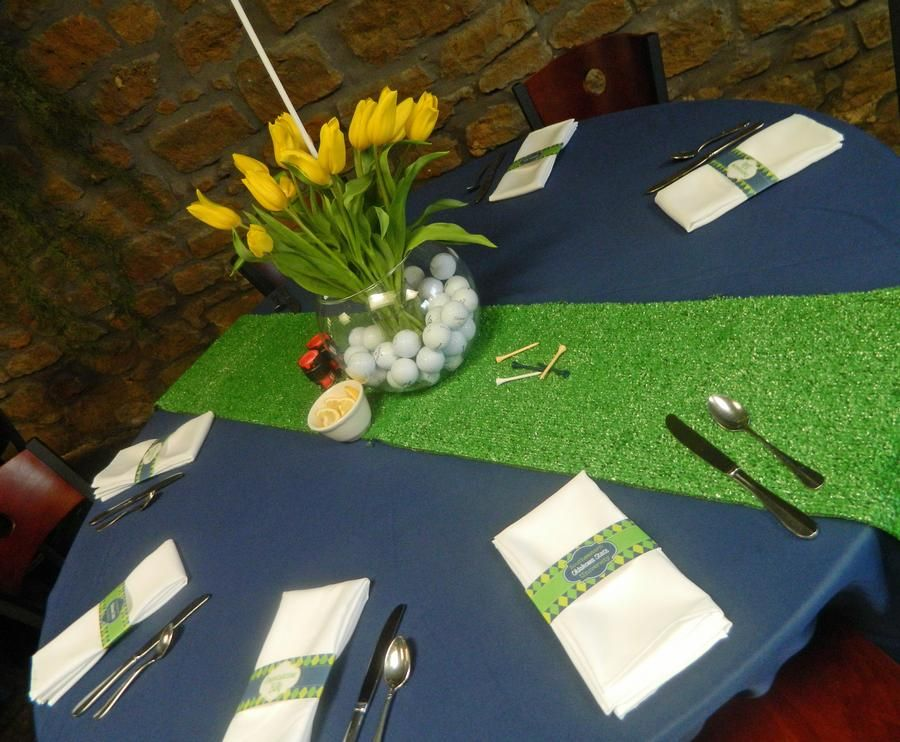 Flower/golf Ball Center Pieces