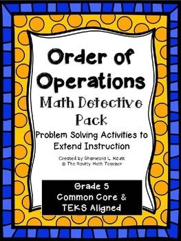 Looking for a culminating task to end your unit on the order