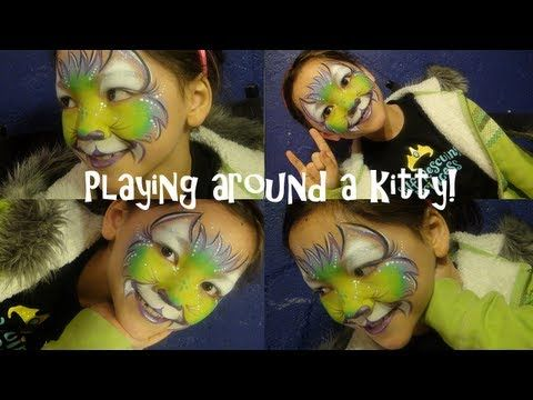 Face painting tutorial, Playing around a kitty!