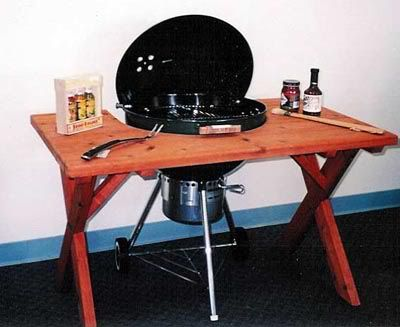 anyone know of a weber kettle table mod the bbq brethren forums for the home pinterest. Black Bedroom Furniture Sets. Home Design Ideas