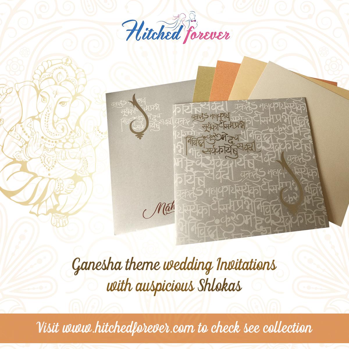 Traditional Ganesha Theme Wedding Invitation Mark The Onset Of Something New With Ble Indian Wedding Invitation Cards Wedding Invitations Online Wedding Cards