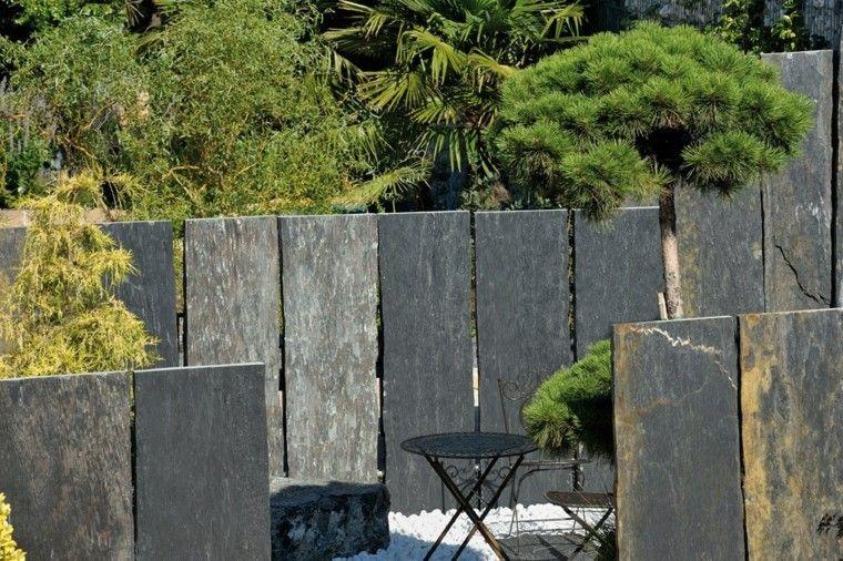 losas grandes para proteger el jardn moderno