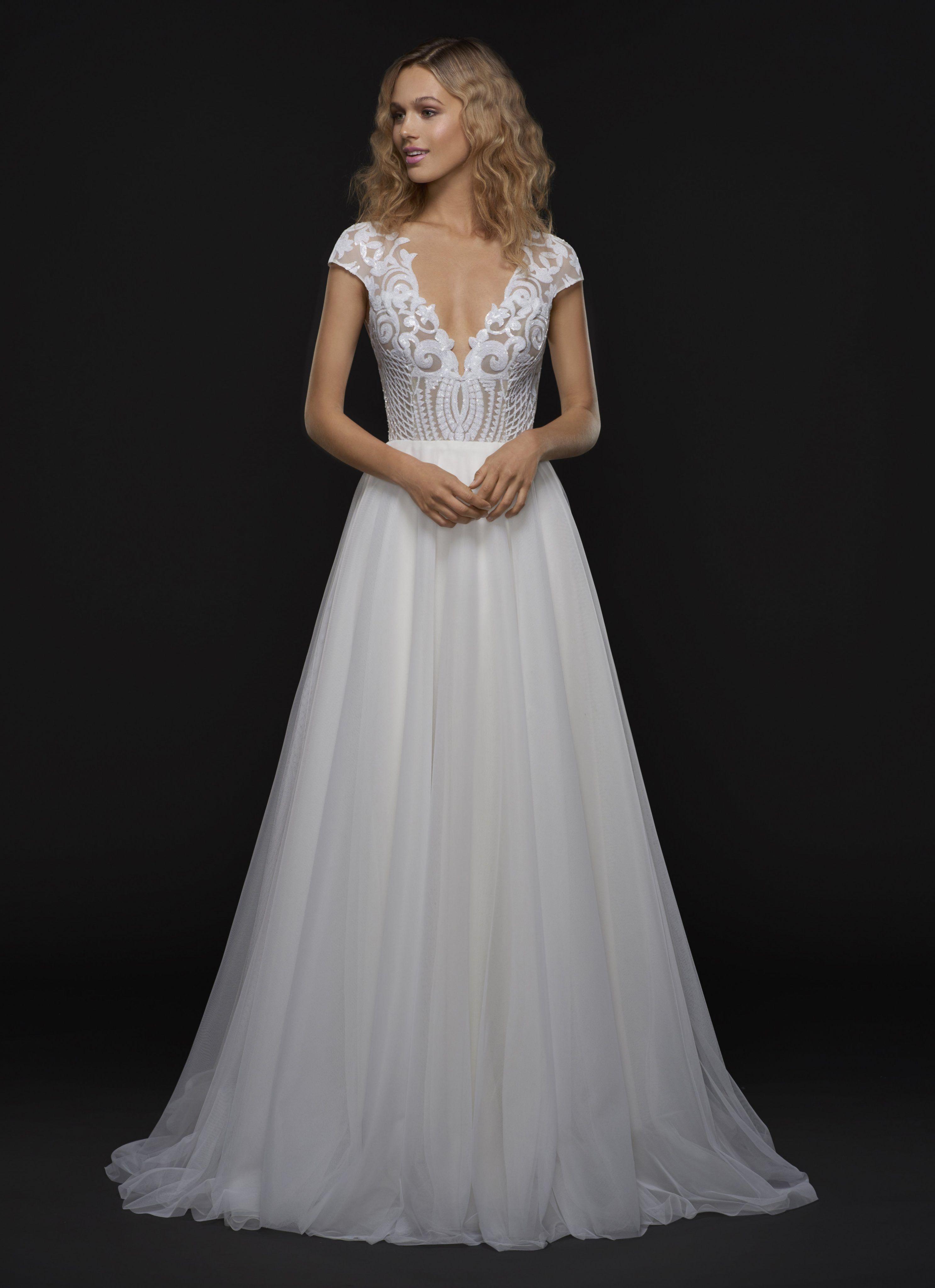 Modern A-line Wedding Dress Kleinfeld Bridal Hochzeitskleider