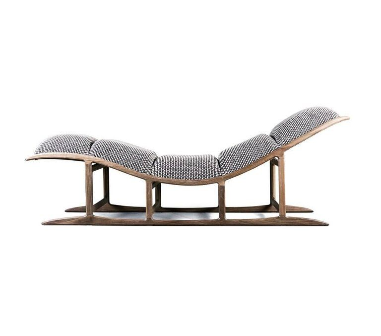 Most Chaise Lounge Contemporary Organic Shaped Chaise In American Walnut In New Condition For Sale In New York Ny Metal Sofa Bench Furniture L Shaped Sofa