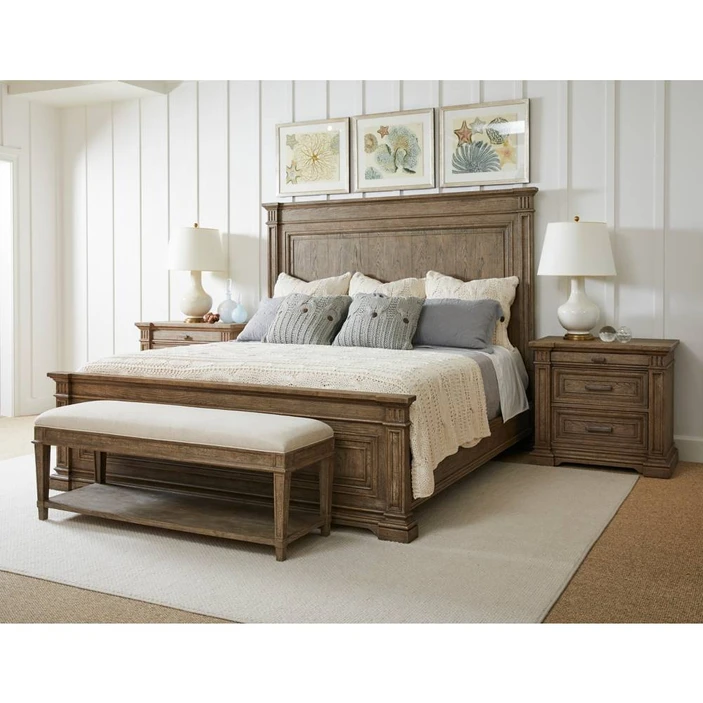 Stanley Furniture European Cottage Panel Bed In Chalkboard Queen
