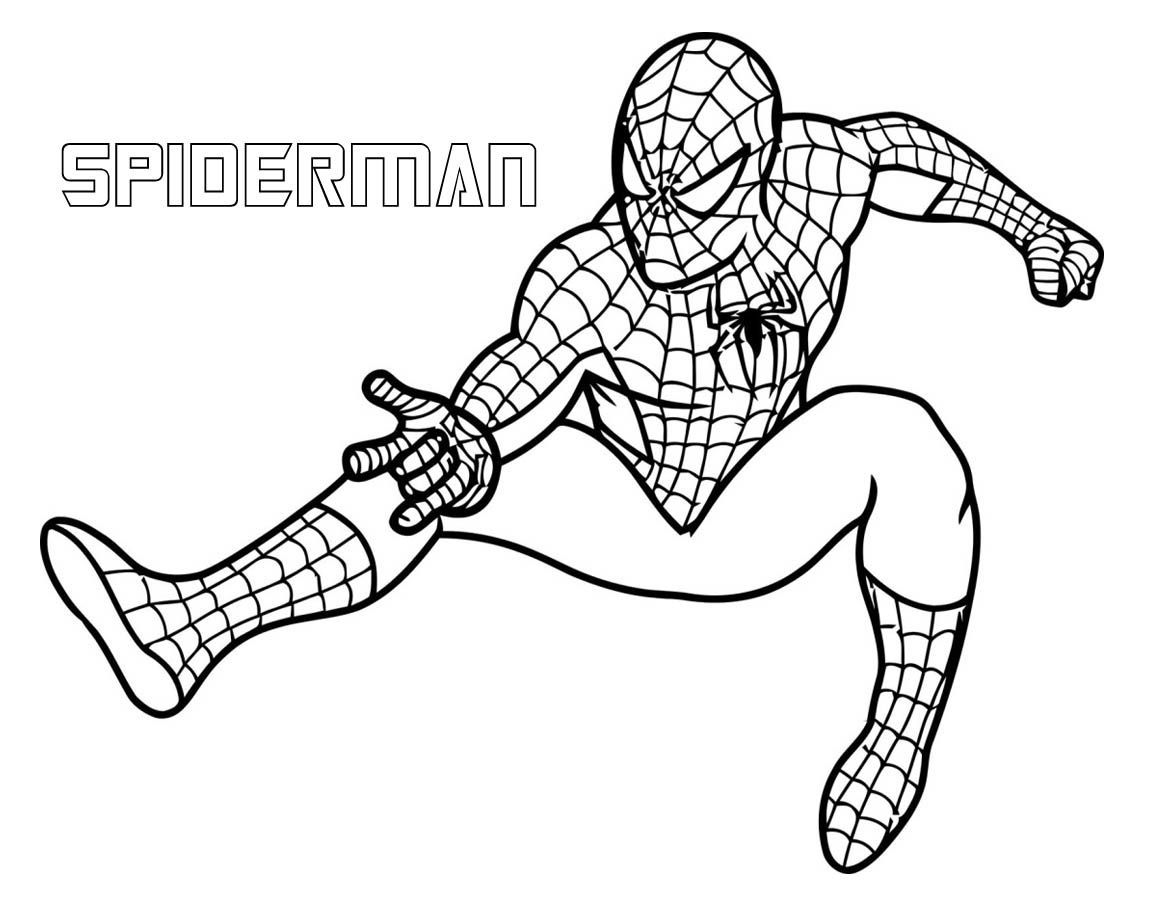 Print Superhero Coloring Pages