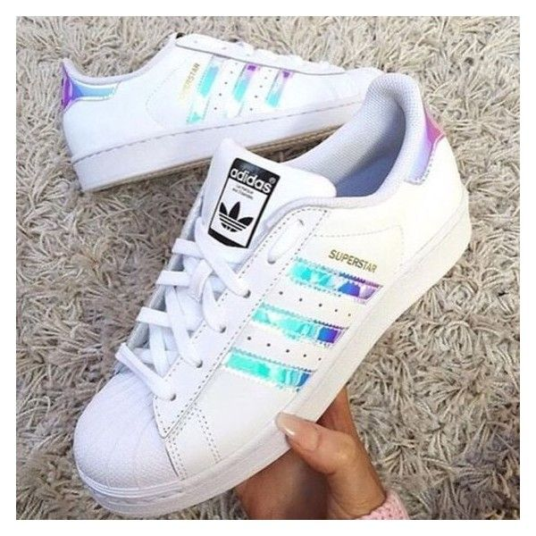 Hot Adidas superstar holographic ❤ liked on Polyvore featuring home and home decor