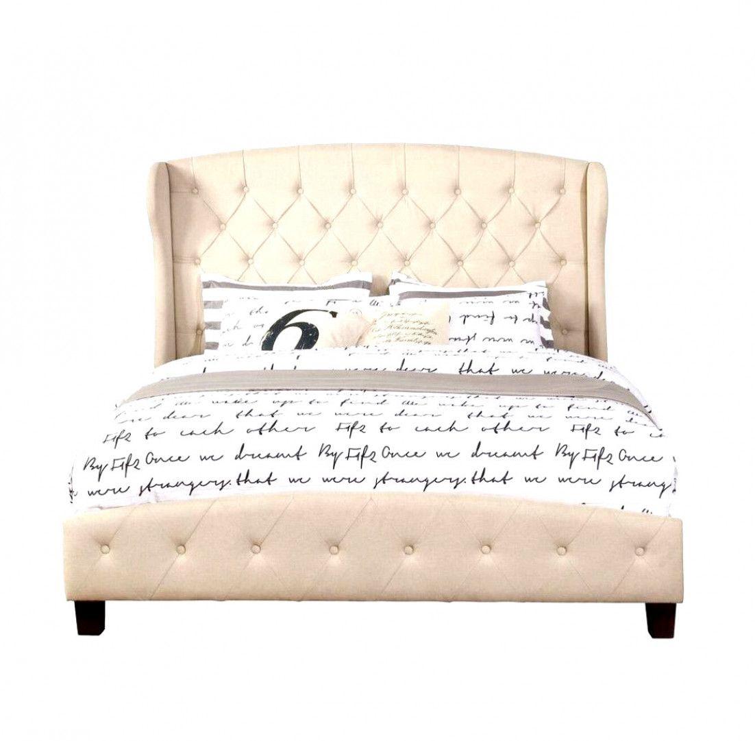 Beige Queen Size Upholstered Shelter Bed 55012 83be Upholstered