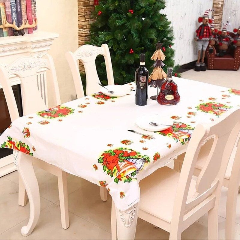 Festival Tablecloth Christmas Decorations Clearance Tree Santa