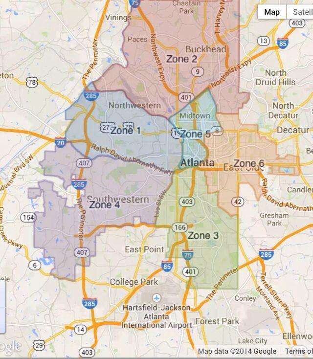 Atlanta S Zones Atlanta Police Department Breaks The City Down