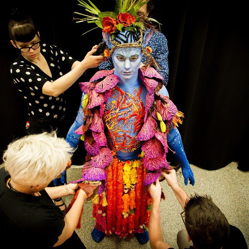 Costume designer Kym Barrett\u0027s costume design for Cirque du Soleil\u0027s Toruk  , The First