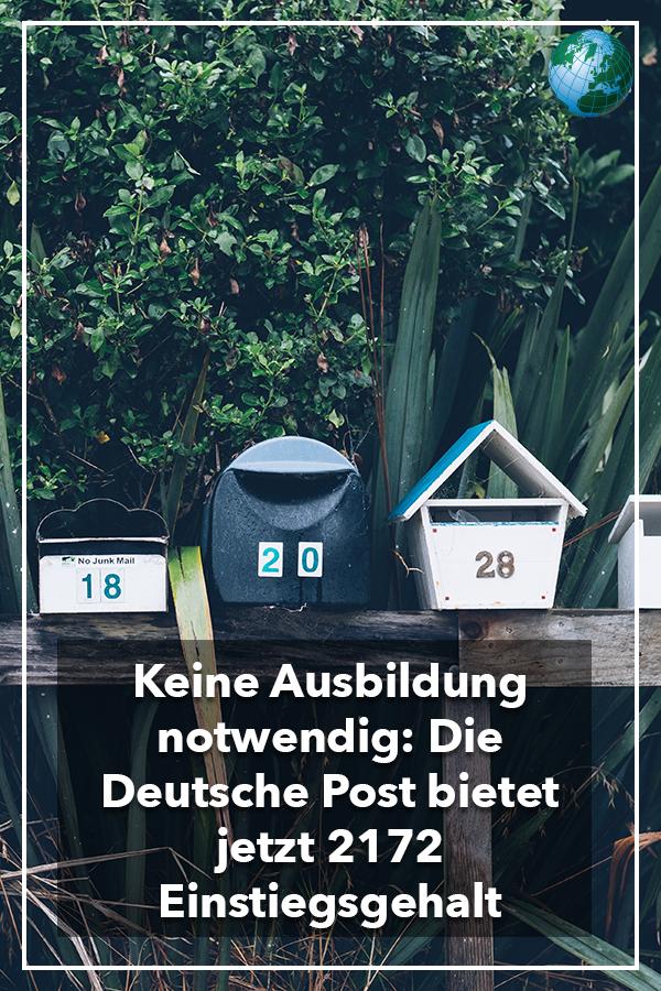 Briefträger bei der Deutschen Post 2172 Euro