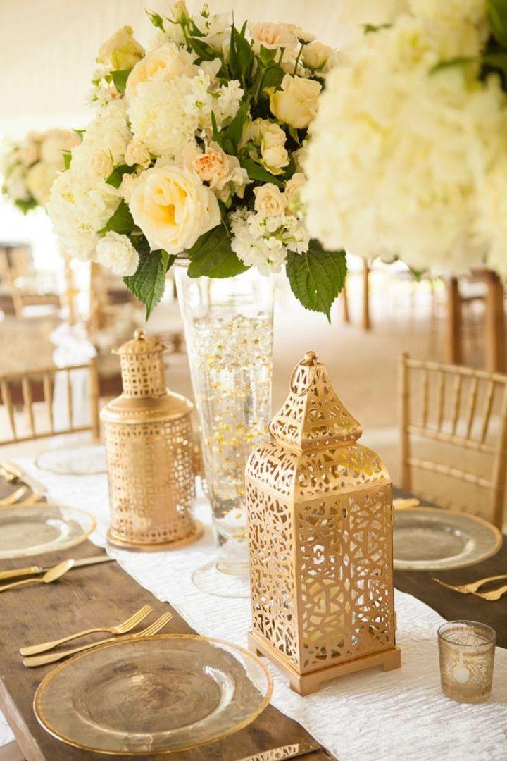 gold sequin wedding vases that shimmer hochzeit. Black Bedroom Furniture Sets. Home Design Ideas