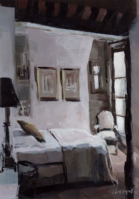 French Romantic Bedroom: Art Print Paris France French Natural Neutral Light