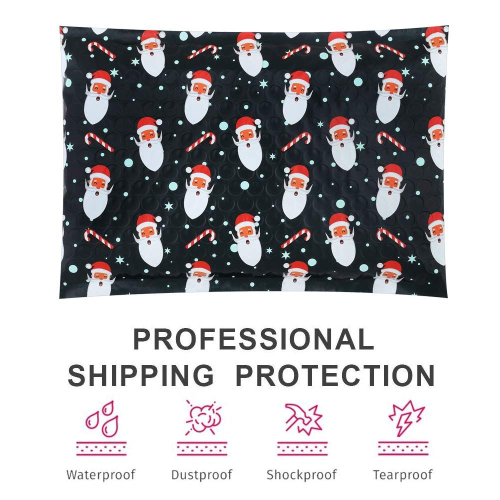 Ucgou 6x10 Poly Bubble Mailers Padded Envelopes Christmas Old Man