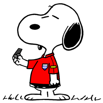 Snoopy The World Famous Soccer Referee At The Euro 2016 Snoopy
