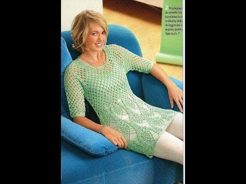 Crochet Patterns| for free |crochet blouse| 1777 - YouTube | blouse ...