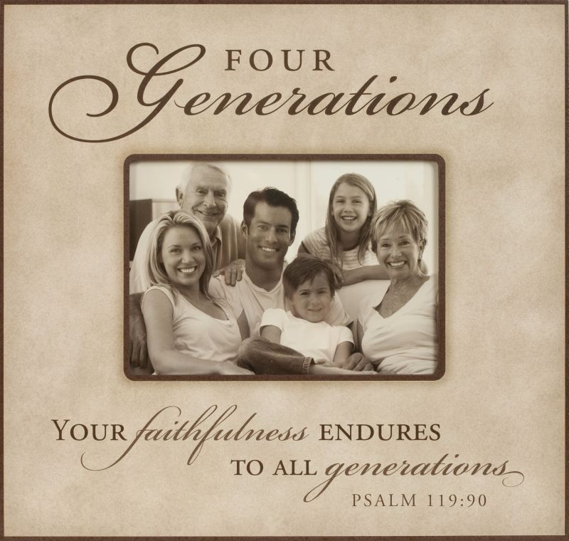4 GENERATIONS PHOTO FRAME buy from American Christian Gift www ...