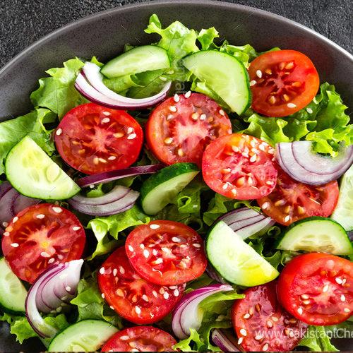 Raw Vegetable Salad Recipe By Chef Gulzar Hussain Pakistani Chef Recipes Recipe Raw Vegetable Salad Vegetable Salad Recipes Raw Vegetables