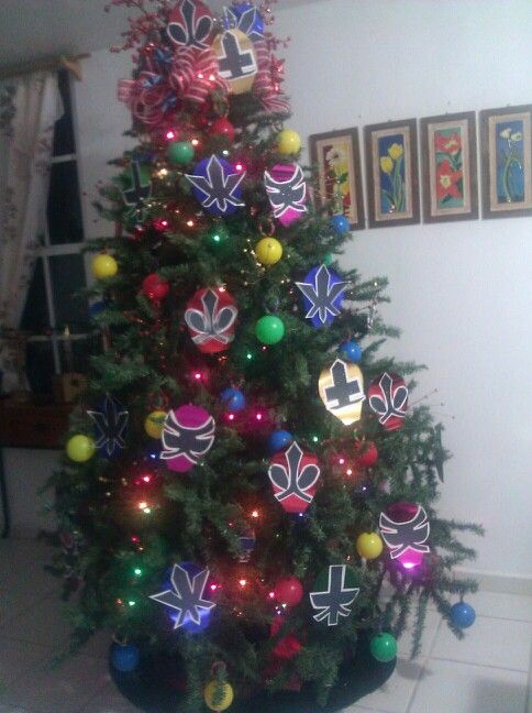 Power Rangers Christmas Tree.Power Rangers Tree My Childrens Stuff Home Decor
