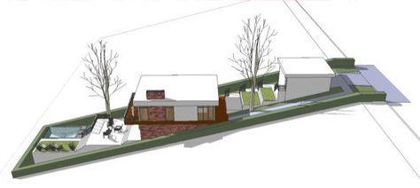 House In Slope Haus Architektur Moderner Hausgrundriss Haus Bauen