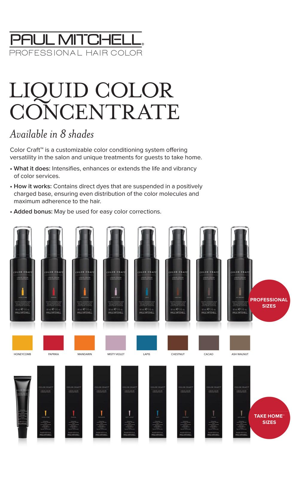Paul Mitchell Color Craft Liquid Color Concentrate Available In 8
