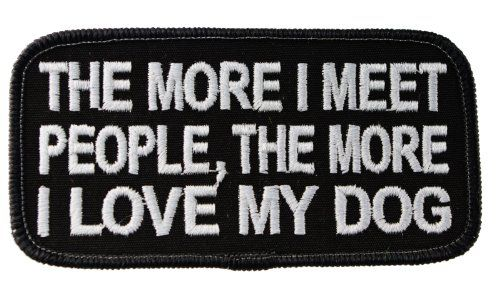 Embroidered I Love My Dog Sew or Iron on Patch Biker Patch