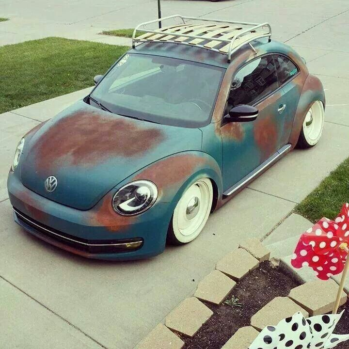 Vw Beetle With White Walls And Roof Rack Volkswagen New Beetle Vw New Beetle New Beetle