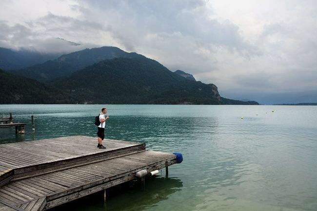 St. Gilgen - Austria, na costa norte-ocidental do lago Wolfgangsee