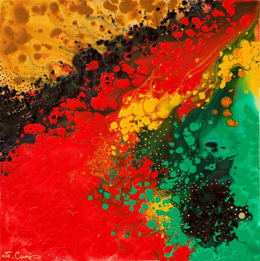 red yellow green black